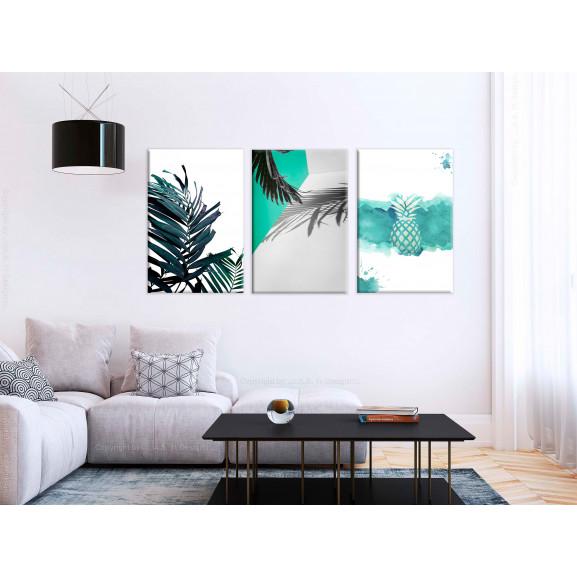 Tablou Palm Paradise (3 Parts) 120 cm x 60 cm naturlich.ro
