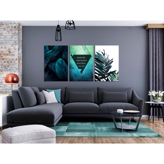 Tablou Jungle Dreams (3 Parts) 120 cm x 60 cm naturlich.ro