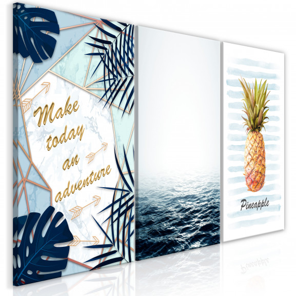 Tablou Pineapple Quote (3 Parts) 120...
