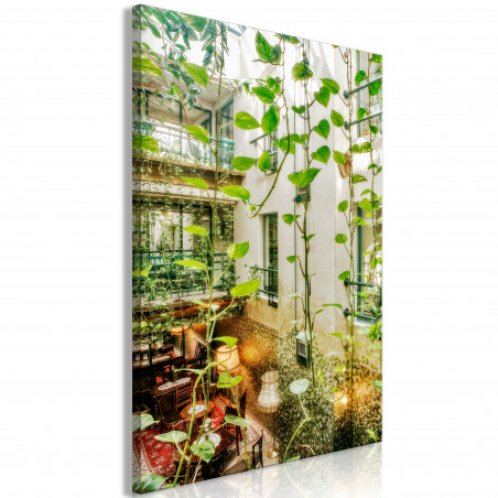 Tablou Cracow: Cafe With Ivy (1 Part) Vertical 40 cm x 60 cm-01