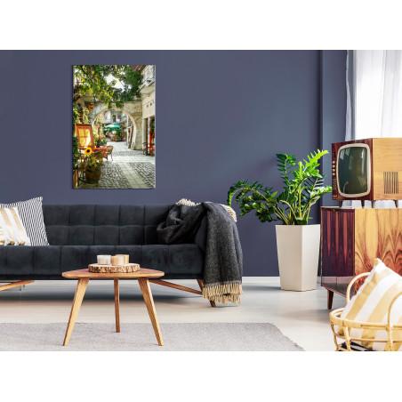 Tablou Cracow: Sunny Pub (1 Part) Vertical 40 cm x 60 cm-01