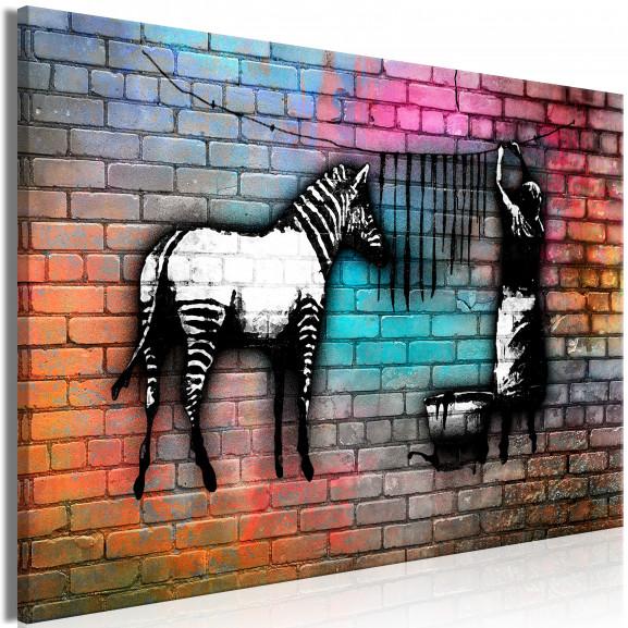 Tablou Washing Zebra Colourful Brick...