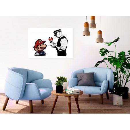 Tablou Banksy: Mushroom Picker (1 Part) Wide 120 cm x 80 cm-01