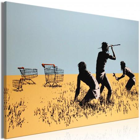 Tablou Trolley Hunters (1 Part) Wide 120 cm x 80 cm-01