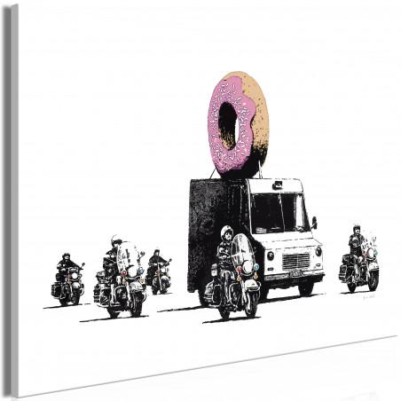 Tablou Donut Police (1 Part) Wide 120 cm x 80 cm-01