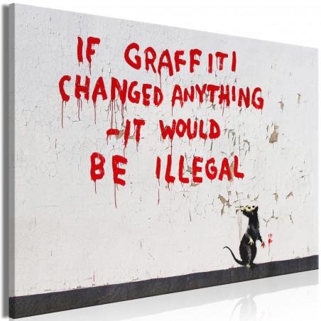 Tablou Quotes Graffiti (1 Part) Wide 120 cm x 80 cm-01