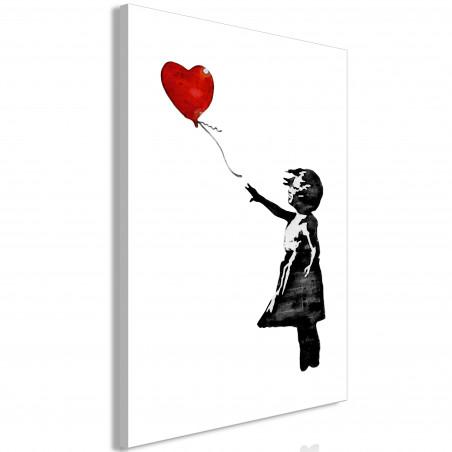 Tablou Banksy: Girl With Balloon (1 Part) Vertical 40 cm x 60 cm-01