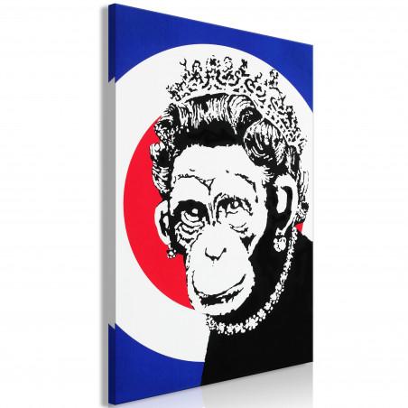 Tablou Queen Of Monkeys (1 Part) Vertical 40 cm x 60 cm-01