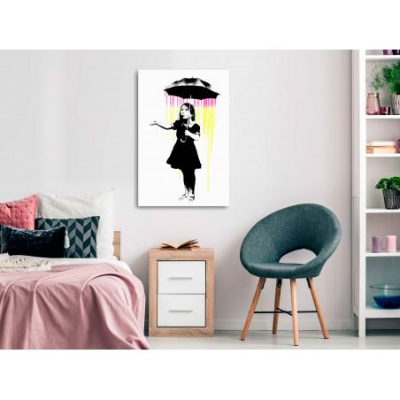 Tablou Girl With Umbrella (1 Part) Vertical 40 cm x 60 cm-01