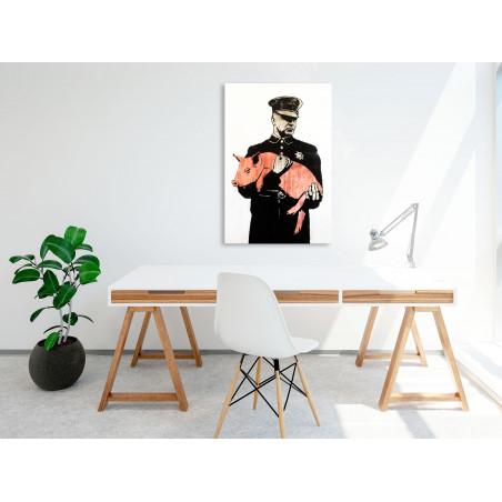 Tablou Police Pig (1 Part) Vertical 40 cm x 60 cm-01