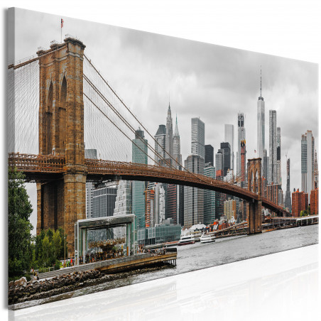 Tablou Road To Manhattan (1 Part) Narrow Colourful 120 cm x 40 cm-01