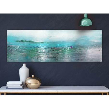 Tablou Turquoise Landscape (1 Part) Narrow 120 cm x 40 cm-01