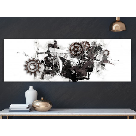 Tablou Complicated Machine (1 Part) Narrow 120 cm x 40 cm-01