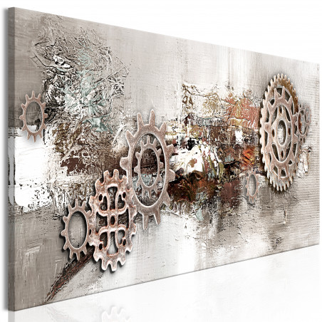 Tablou Steel Cranks (1 Part) Narrow 120 cm x 40 cm-01