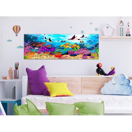 Tablou Underwater Fun (1 Part) Narrow 120 cm x 40 cm-01