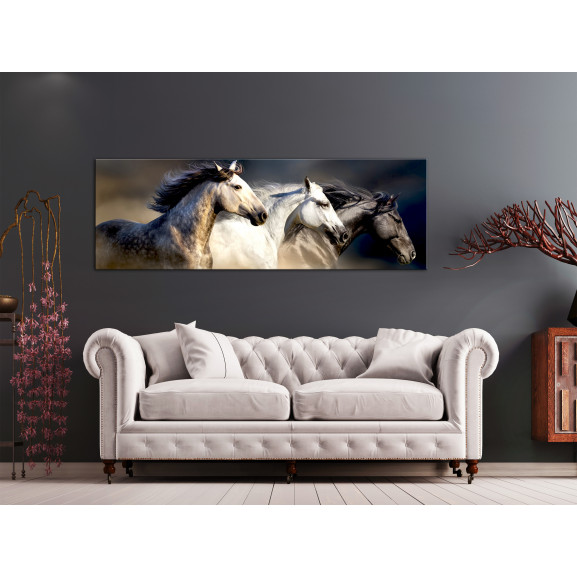 Tablou Sons Of The Wind (1 Part) Narrow 120 cm x 40 cm naturlich.ro