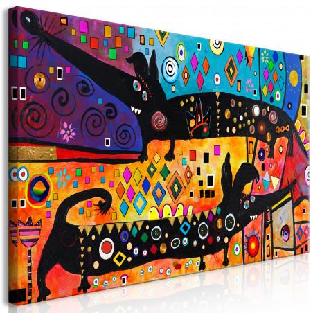 Tablou Extravagant Dogs (1 Part) Wide 120 cm x 60 cm-01