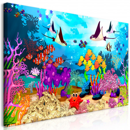 Tablou Underwater Fun (1 Part) Wide 120 cm x 60 cm-01