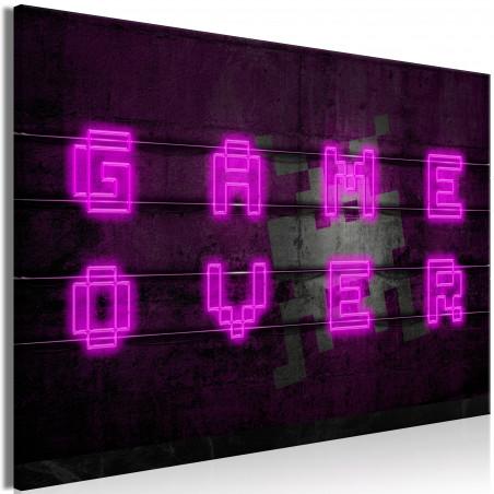 Tablou Pink Neon (1 Part) Wide 120 cm x 80 cm-01