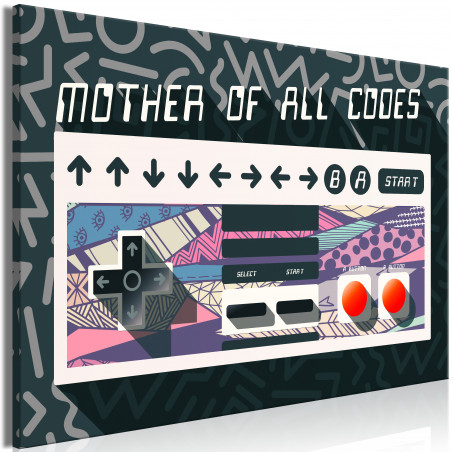 Tablou Mother Of All Codes (1 Part) Wide 120 cm x 80 cm-01