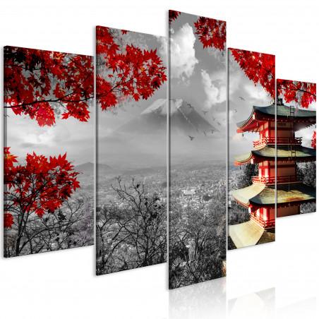 Tablou Japanese Adventure (5 Parts) Wide 100 cm x 50 cm-01