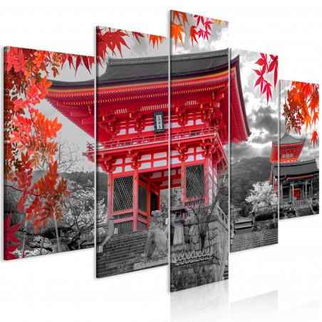Tablou Kyoto, Japan (5 Parts) Wide 100 cm x 50 cm-01