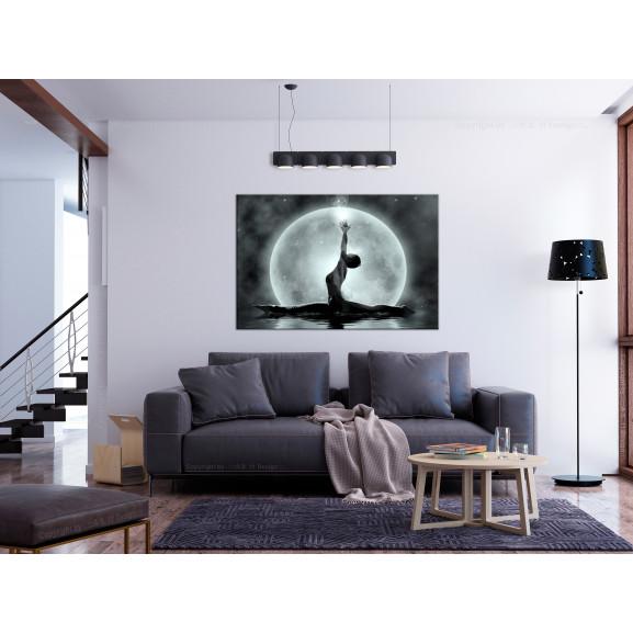 Tablou Twine (1 Part) Wide Grey 120 cm x 80 cm naturlich.ro