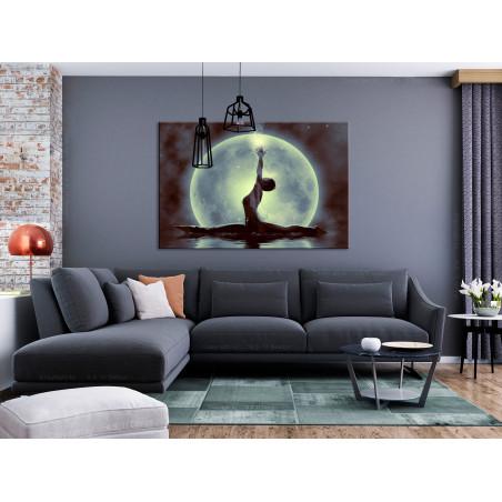 Tablou Twine (1 Part) Wide Green 120 cm x 80 cm-01
