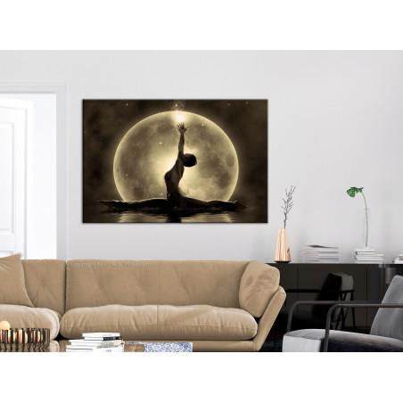 Tablou Twine (1 Part) Wide Golden 120 cm x 80 cm-01