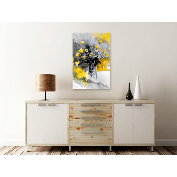 Tablou Bouquet Of Colours (1 Part) Vertical Yellow 40 cm x 60 cm naturlich.ro