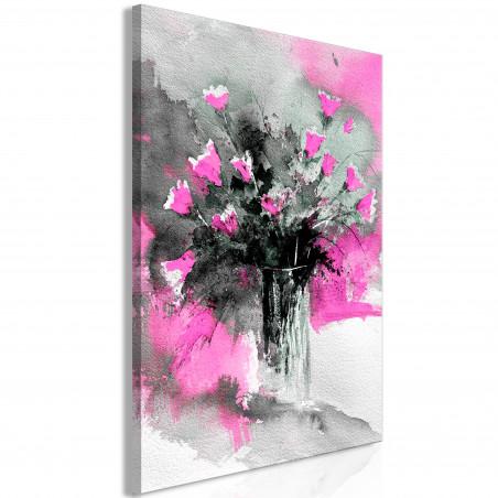 Tablou Bouquet Of Colours (1 Part) Vertical Pink 40 cm x 60 cm-01