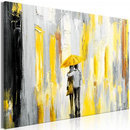 Tablou Umbrella In Love (1 Part) Wide Yellow 120 cm x 80 cm-01
