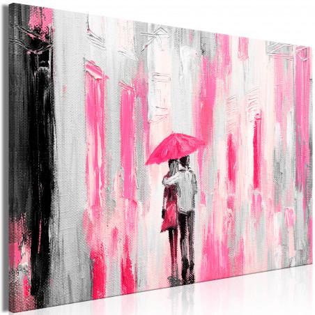 Tablou Umbrella In Love (1 Part) Wide Pink 120 cm x 80 cm-01