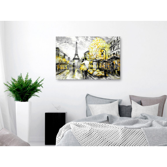 Tablou Colourful Rendez-Vous (1 Part) Wide Yellow 120 cm x 80 cm naturlich.ro