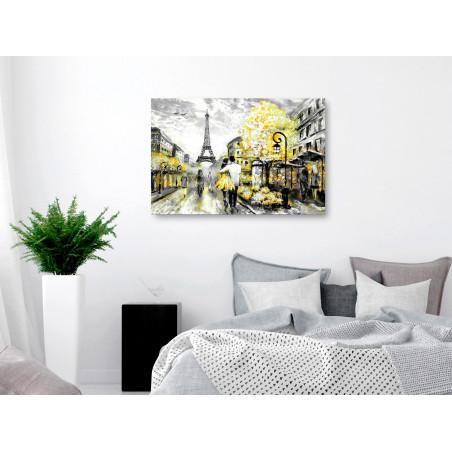 Tablou Colourful Rendez-Vous (1 Part) Wide Yellow 120 cm x 80 cm-01
