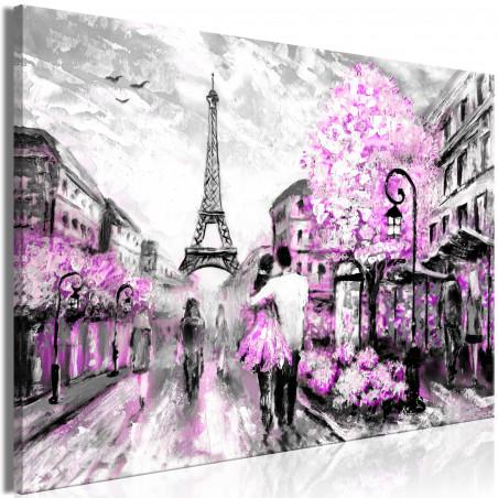 Tablou Colourful Rendez-Vous (1 Part) Wide Pink 120 cm x 80 cm-01