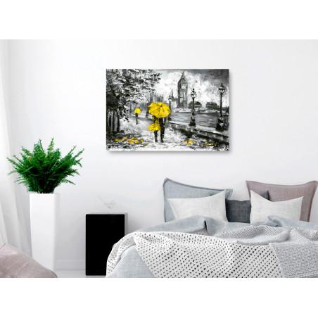 Tablou Walk In London (1 Part) Wide Yellow 120 cm x 80 cm-01