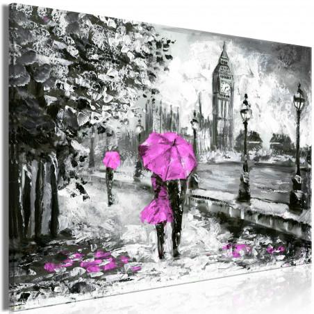 Tablou Walk In London (1 Part) Wide Pink 120 cm x 80 cm-01
