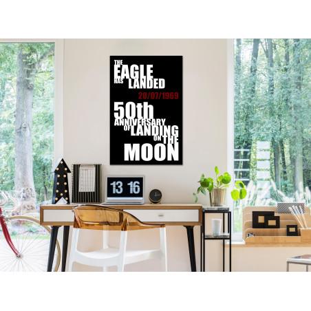 Tablou Moon Landing (1 Part) Vertical 40 cm x 60 cm-01
