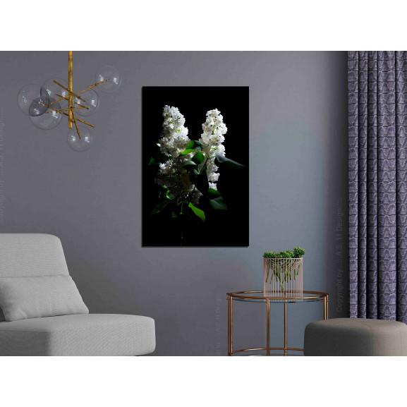 Tablou Lilacs At Night (1 Part) Vertical 40 cm x 60 cm naturlich.ro