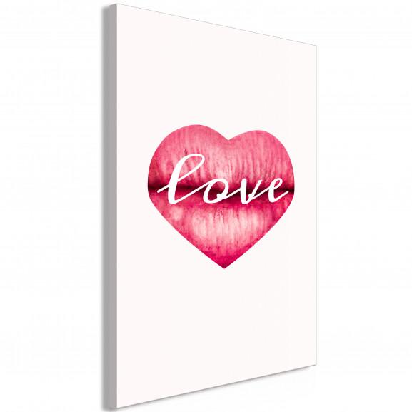 Tablou Love Lips (1 Part) Vertical 40...