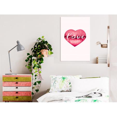 Tablou Love Lips (1 Part) Vertical 40 cm x 60 cm-01