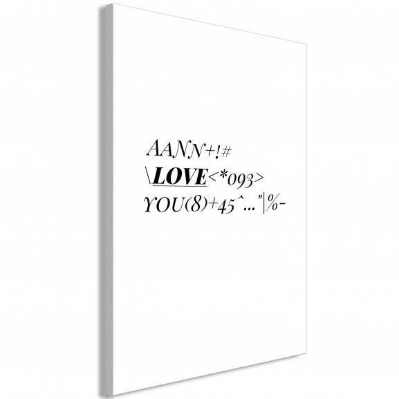 Tablou Love Code (1 Part) Vertical 40...