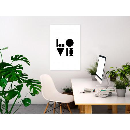 Tablou Black, White And Love (1 Part) Vertical 40 cm x 60 cm-01