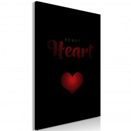Tablou Robot Heart (1 Part) Vertical 40 cm x 60 cm-01
