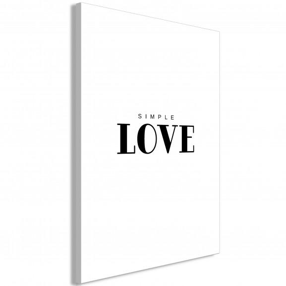 Tablou Simple Love (1 Part) Vertical...