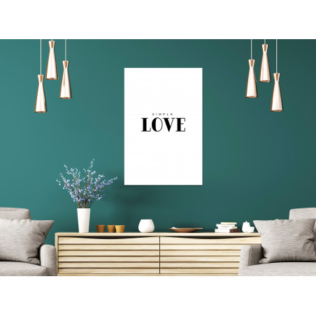 Tablou Simple Love (1 Part) Vertical 40 cm x 60 cm-01