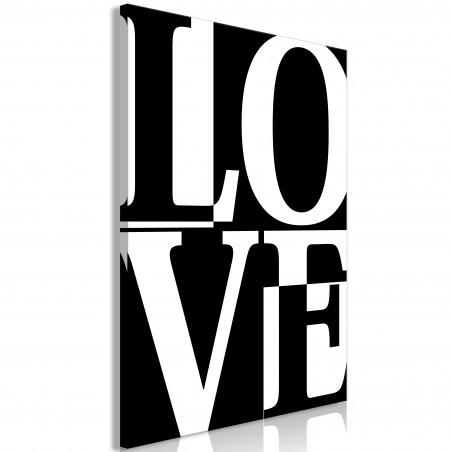Tablou Black And White Love (1 Part) Vertical 40 cm x 60 cm-01
