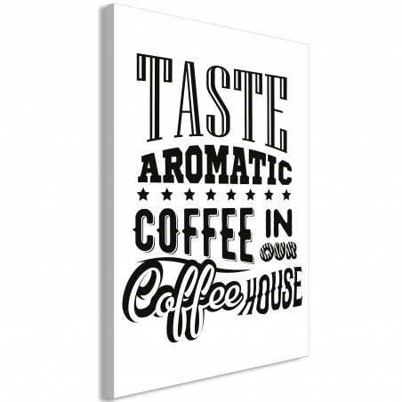 Tablou Taste Aromatic Coffee In Our Coffee House (1 Part) Vertical 40 cm x 60 cm-01