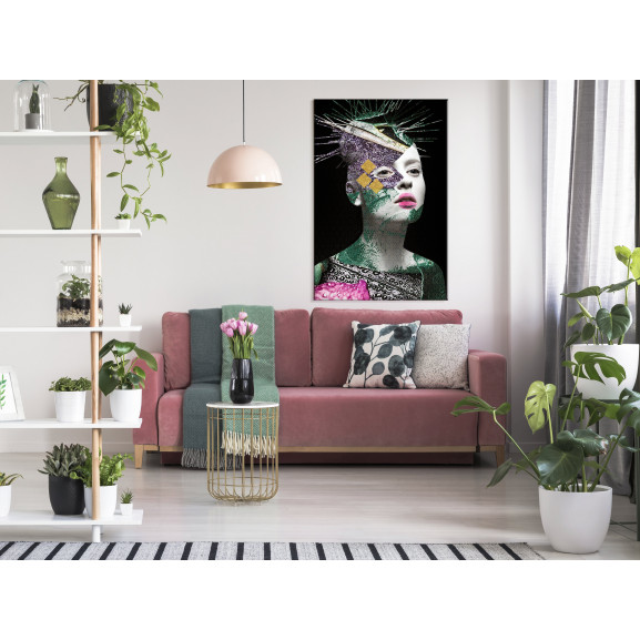 Tablou Colourful Portrait (1 Part) Vertical 40 cm x 60 cm naturlich.ro